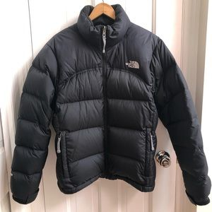 The North Face black down puffer jacket